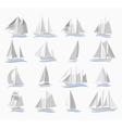 Set of sailing ships vector image vector image