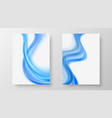 smooth transparent flow blue wave abstract wave vector image