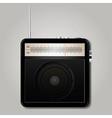 Square retro radio vector image vector image