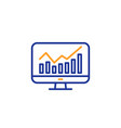 statistics line icon data analysis sign vector image
