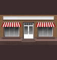 storefront entrance door and windows vector image