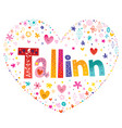 tallinn capital city of estonia vector image vector image