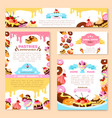 templates of bakery shop or cafe patisserie vector image