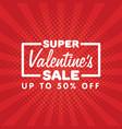 valentines day sale banner vintage comics pop art vector image vector image