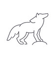 wolf line icon sign on vector image vector image