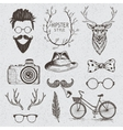 Collection of the monochrome objects vector image