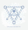 sacred geometry sign vector image