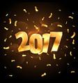 2017 celebration background in golden color vector image vector image