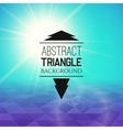 Abstract cyan sunset with purple triangle field vector image vector image