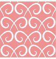 Abstract repeating swirls seamless pattern vector image vector image
