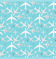 airplane seamless pattern background vector image