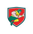 American Football Running Back Charging Crest vector image vector image