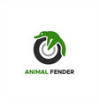 animal fender logo vector image vector image