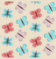 baby girl pattern with blue and pink butterflies vector image