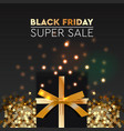 black friday sale banner poster logo golden color vector image vector image