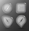 Brush Glass buttons vector image vector image