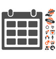 calendar icon with dating bonus vector image vector image
