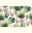 calla flowers seamless pattern vector image vector image