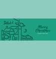 christmas and new year papercut outline deer vector image