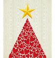 Christmas love heart pine tree vector image vector image