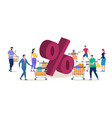 clients shopping on store sale flat concept vector image vector image