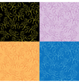 collection of floral patterns vector image vector image