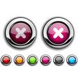 Cross button vector image vector image