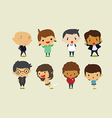 Cute cartoon boys and girls set2 clip art vector image