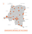 democratic republic congo map vector image vector image