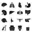 design body and human logo set body vector image vector image