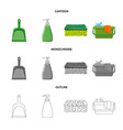 design of cleaning and service icon vector image