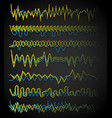 equalizer eq lines wavy zigzag lines frequency vector image