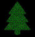 fir-tree halftone icon vector image
