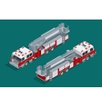 Fire truck isolated Fire suppression and victim vector image