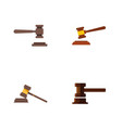 flat icon lawyer set of government building legal vector image vector image