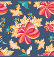 flowers seamless pattern for your design vector image vector image