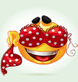 Funny smile with and red lingerie vector image