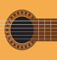 guitar sound hole vector image vector image