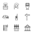 Historical museum icons set outline style vector image vector image