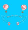 hot air balloon travel aerial entertainment vector image