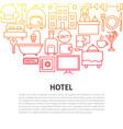 hotel line concept vector image vector image