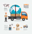 Infographic Social Business delivery service vector image vector image