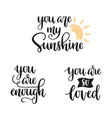 inspirational quotes calligraphy vector image