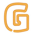 letter g bread icon cartoon style vector image