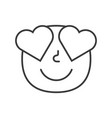 love smile fase black and white emoji eps 10 vector image vector image