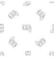 man take selfie phone pattern seamless vector image