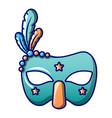masquerade mask icon cartoon style vector image