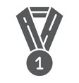 medal glyph icon badge and award prize sign vector image vector image