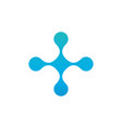 molecular cross logo atom nuclear logo fluid vector image vector image