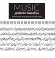 Musical pattern brushes vector image vector image